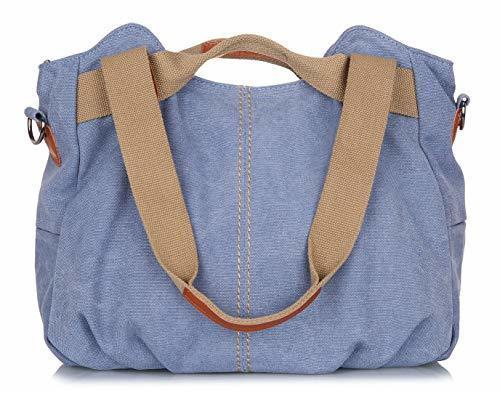 dcd9454db5 Z-joyee Women's Ladies Casual Vintage Hobo Canvas Daily Purse Top Handle  Shoulder Tote Shopper Handbag