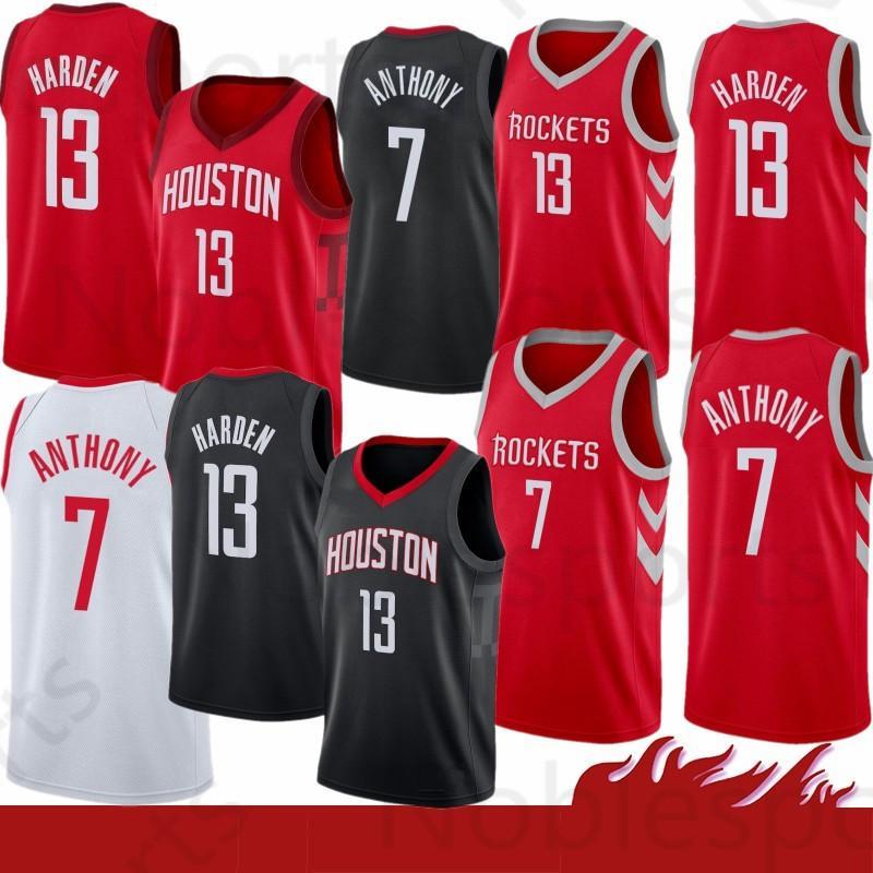 54be076673dd 2019 Stitched Houston James 13 Harden Jersey Rockets 3 Chris   Paul 7  Carmelo   Anthony Basketball Jerseys From Noblesports