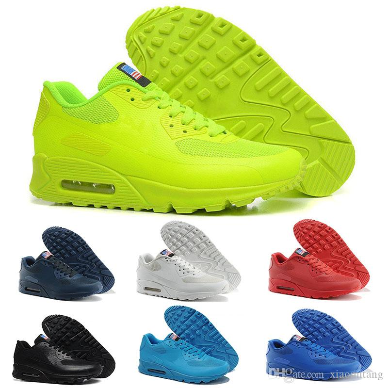 c0c0ea8491d Acquista Nike Air Max 90 Airmax 90 Chaussures Hommes 90 HYP PRM QS Scarpe  Casual Vendita Online Fashion Independence Day Zapatillas USA Flag Sport  Sneakers ...