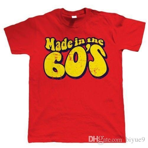 Made In The 60s Mens Funny 50th Birthday T Shirt New Fashion Mens