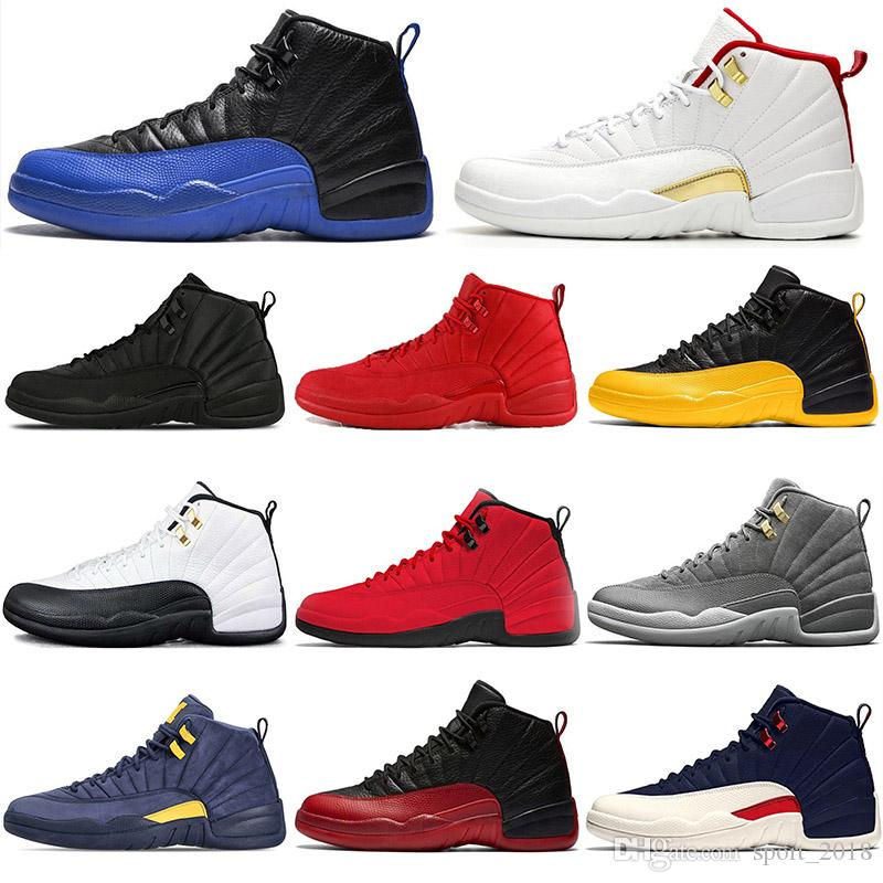 2020 Game Royal 12 12s Men Basketball Shoes Gym red black white University Gold taxi flu game bulls Athletic mens trainers sports sneakers