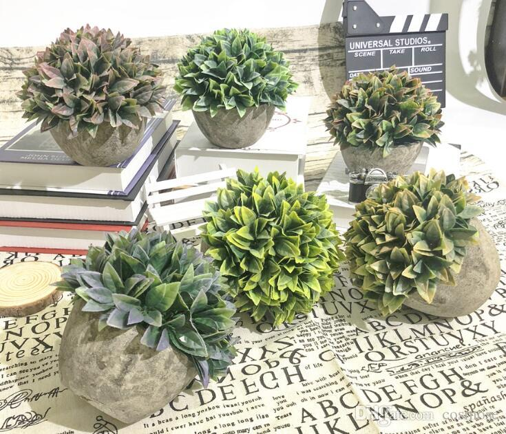 Yapay Bitki Bonsai Mini Plastik Sahte Sahte Yesil Cim Simulasyon Yapay Bitkiler Ev Dekor Icin Tencere Ile
