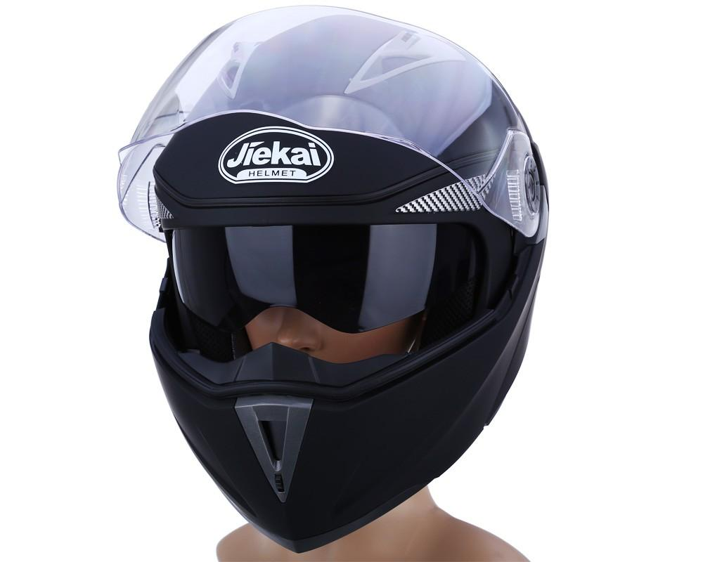 New Motorcycle Helmet Full Face Dual Visor Street Bike with Transparent Shield with ABS Material with Hot Pressure Sponge LinerFree Shipping