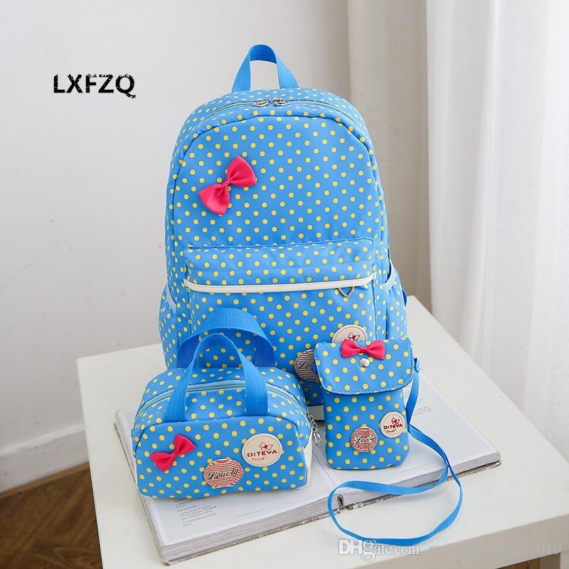 Backpack for girls 3 pieces school bags mochilas escolares infantis Backpacks for adolescent girl butterfly children's backpacks #110717