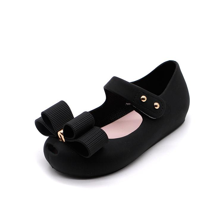 Mini Melissa New style Baby Girl Shoes Christmas Shoes Gift PVC Summer Sandals Girl Bow Design Three Colors
