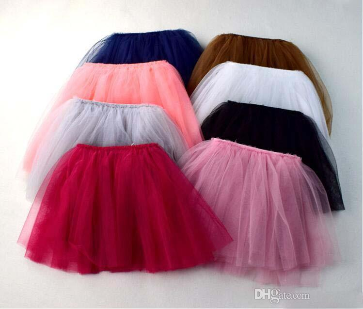 8 colors Four all-match new arrivals Four layers of gauze Princess skirts cute girl Summer solid color Cute girls dress