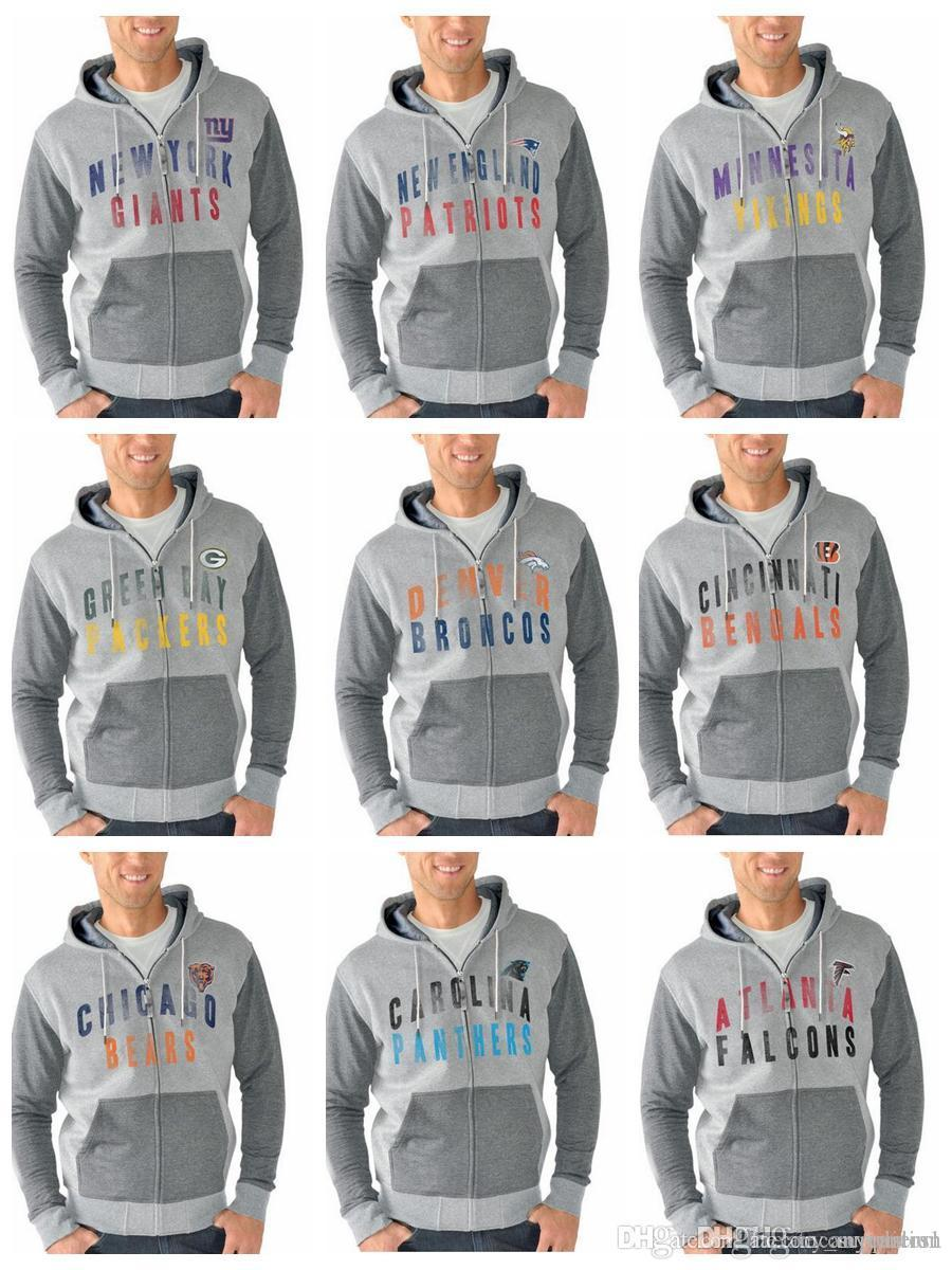 new products 02784 04f39 Mens Sweater Atlanta Falcons Baltimore Ravens Bills Carolina Panthers  Chicago Bears G-III Sports by Carl Banks Tri-Blend Full-Zip Hoodie