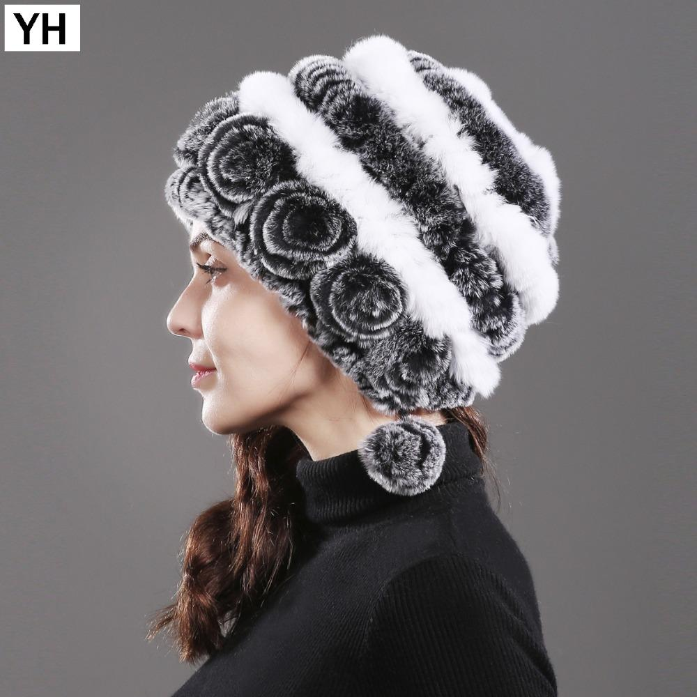2018 New Style Women Warm Natural Rex Rabbit Fur Hat Winter Rex Rabbit Fur  Beanies Caps Casual Knitted Real Cap Cowboy Hats Stetson Hats From  Homejewelry 8b113ebf1f4