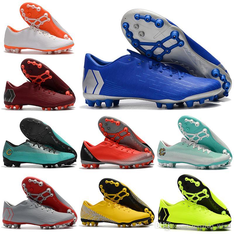 848f05a4b New Mens Low Ankle Football Boots Vapors 12 Academy CR7 AG-R Soccer ...