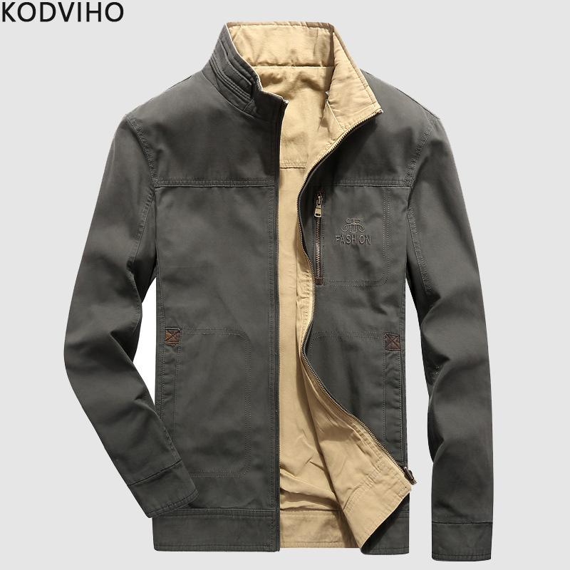 01894297fb4 Mens Jackets 2019 Men Winter Casual Streetwear Cotton Jackets Man Spring  Autumn Double Faced Coat Men S Coats Jaqueta Homme 4XL Black Denim Jacket  With Fur ...