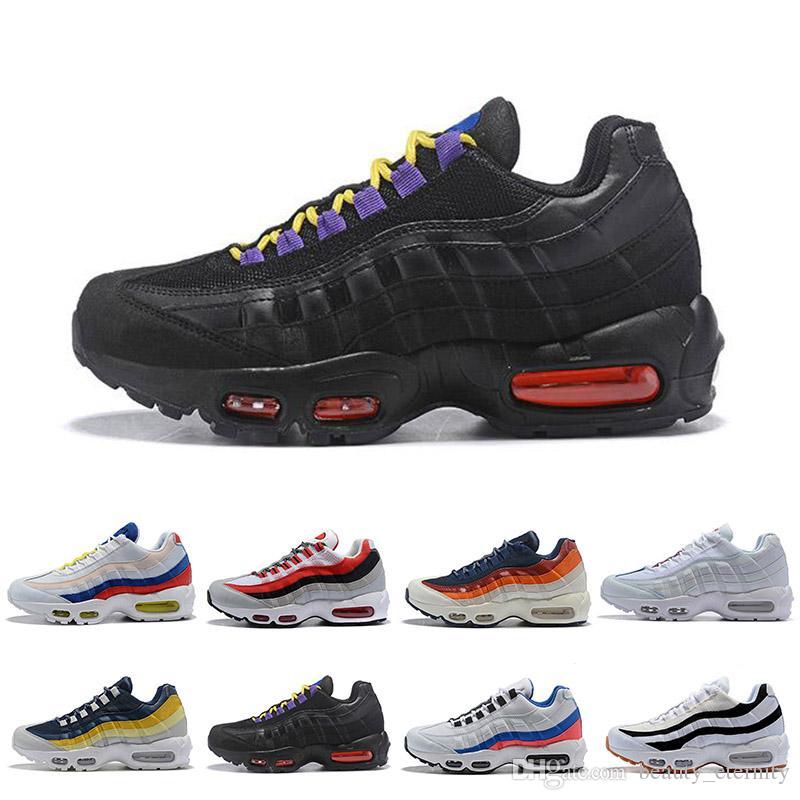Nike air max 95 2018 nuevos zapatos deportivos para hombre baratos, zapatillas deportivas Premium OG Neon Cool Grey tamaño 40 45