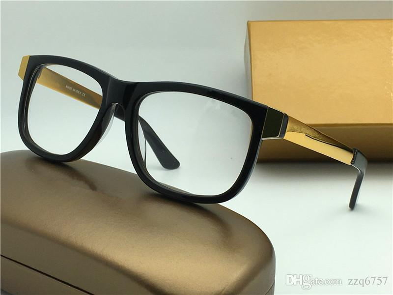 fca1ce48fd6 2019 New Men Glasses Prescription Full Framed Eyewear Gold Plated Vintage  Sqaure Frame G0229 Italian Designer Women Design From Zzq6757