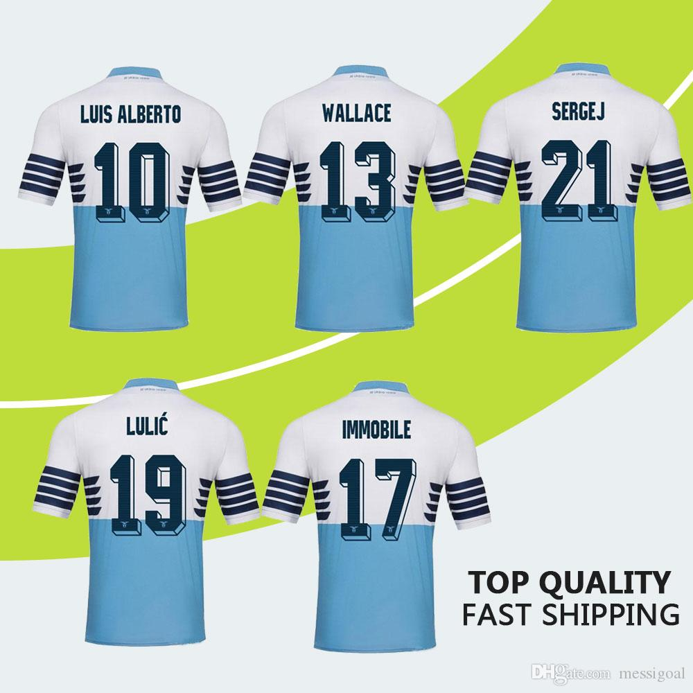 91adca277 New Lazio Home Soccer Jerseys 2019 Immobile Sergej Badelj SS Lazio Away And  Third Football Shirts Soccer Shirt Top Quality Fast Shipping SS Lazio Jersey  ...