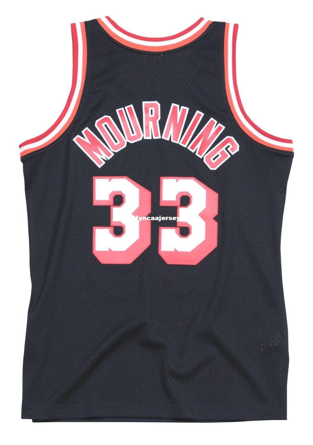 innovative design 11ceb 85401 Alonzo Mourning 33# Sewn Mitchell & Ness high quality Top HWC Jersey -  Black Mens Top Size XS-6XL Stitched basketball Jerseys Ncaa College