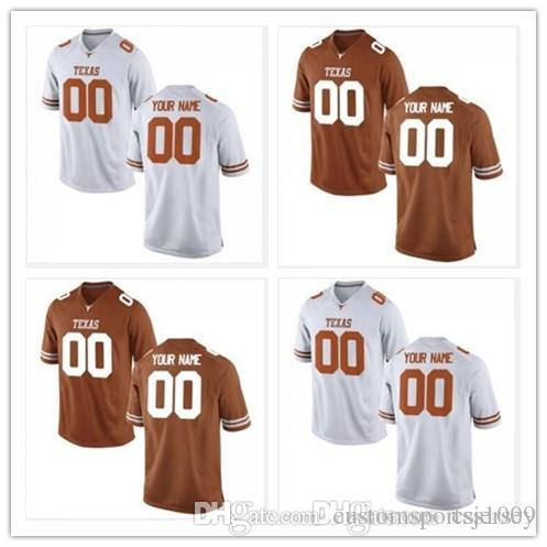 on sale e0da7 ce754 Cheap custom Texas Longhorns College Football Jersey Men Women Youth  Personalized Any Name Number Stitched Orange White Jerseys XS-5XL