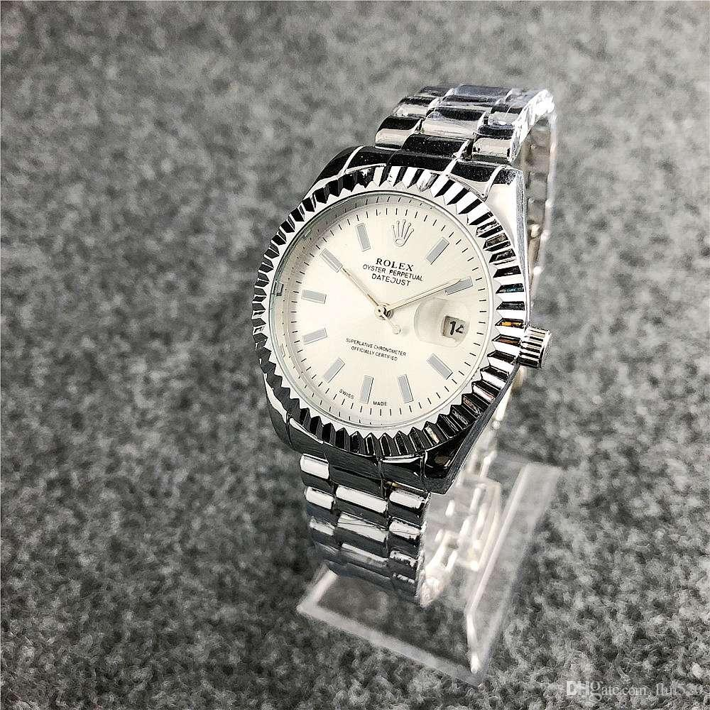 e99aed91f55 Compre 2019 Senhoras Da Moda Relógio De Luxo Senhoras Elegantes Relógio De  Aço Inoxidável Senhoras Relógio Simulado Relógio De Calendário De Quartzo  Rodada ...