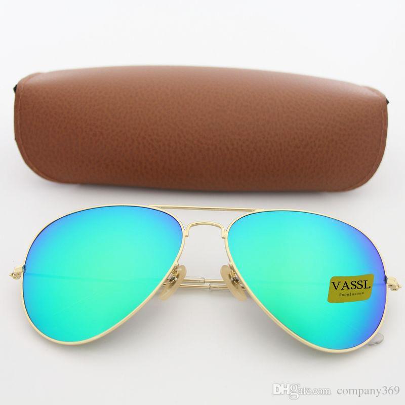 2c568df29496 Designer Brand New Classic Pilot Sunglasses Fashion Women Sun Glasses Vassl  Uv400 Matte Gold Frame Green Mirror 58mm Lens with Box Online with  $11.98/Piece ...