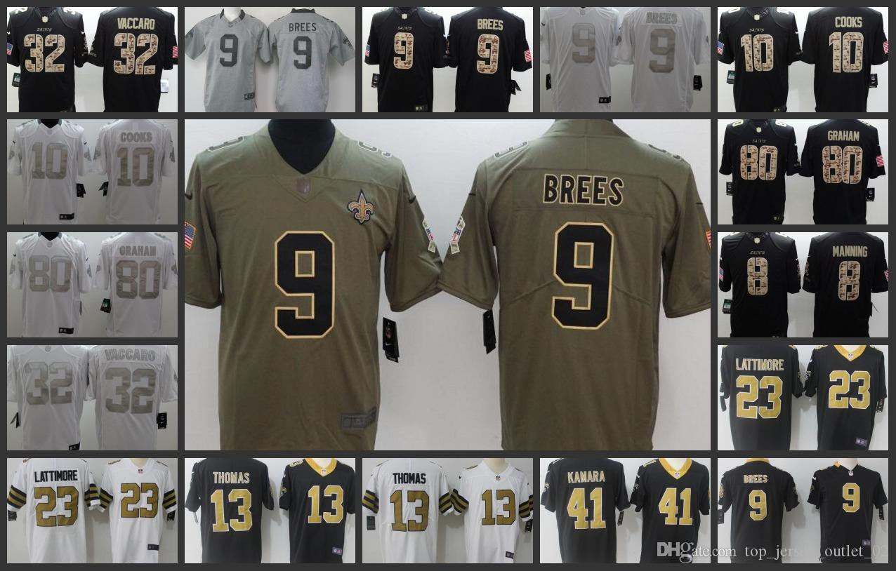 53a3310c0 2019 New Orleans Saints Embroidery Men Jersey #9 Drew Brees 13 Michael  Thomas 23 Marshon Lattimore 41 Alvin Kamara Women Youth Football Jerseys  From ...