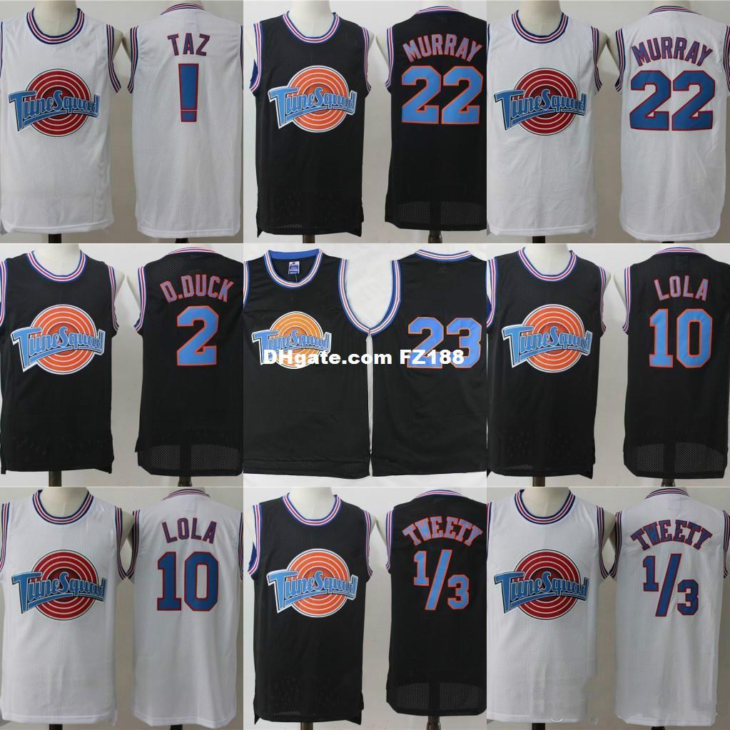 58af9b0a482c 2019 Wholesale Mens Tune Squad Space Jam Movie Jersey 1 Bugs Bunny 2 Daffy  Duck 1 3 Tweety Bird 10 Lola Bunny 22 Bill Murray Basketball Jerseys From  ...