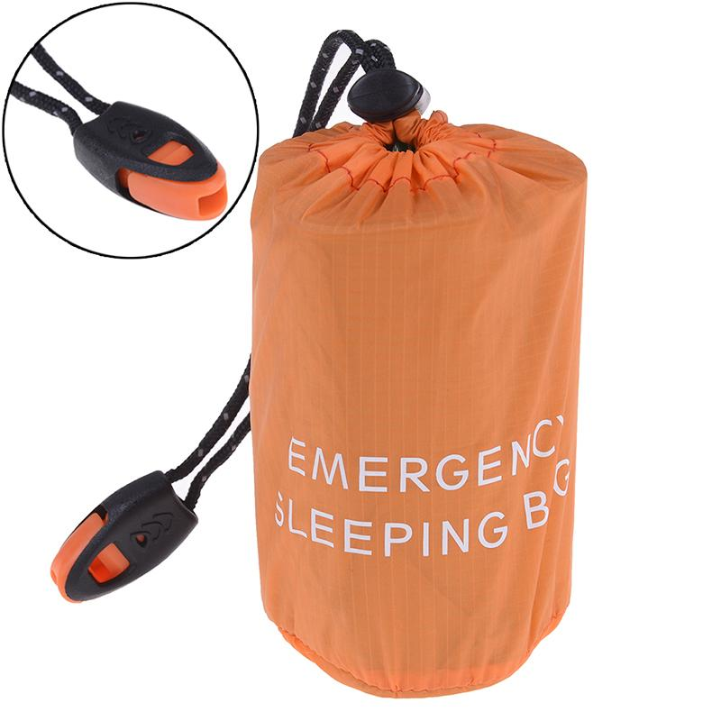 sports shoes 9489c 7e317 Reusable Emergency Sleeping Bag Waterproof Survival Camping Travel Bag &  Whistle for Travel Camping Hot
