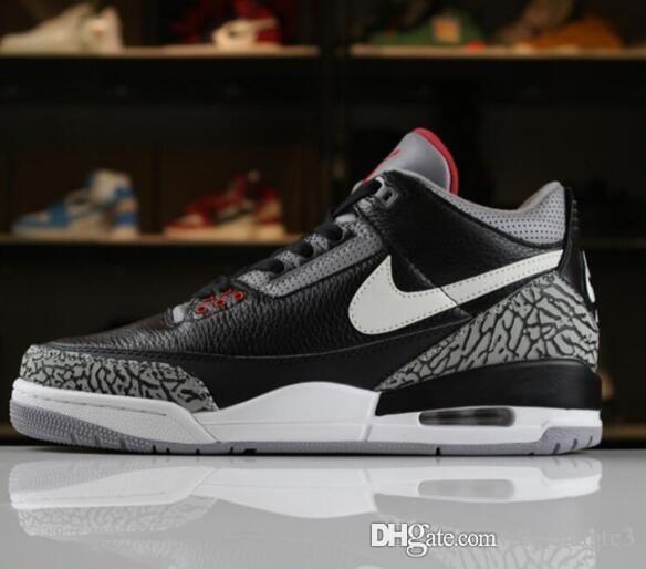brand new 5e7b4 7cafe 18 Lair 1 JORDAN 1 Retro Katrina 3s Quai 54 men Basketball Shoes 3 Tinker  Korea JTH Pure white Black Cement Flight Sport Sneakers AIR SDFS