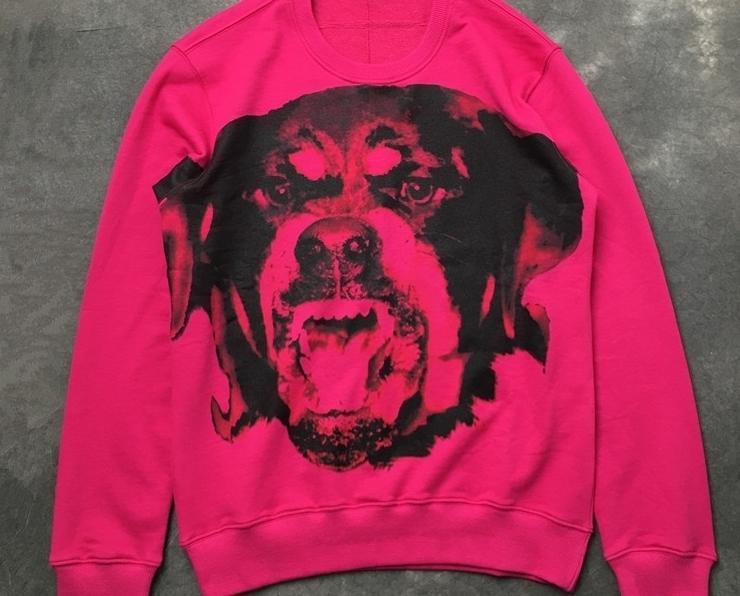 Automne Nouvelle Arrivée De Mode Rottweiler Chien Rose Imprimé Animal Sweats Sweats Jumper Pour Hommes Femmes Designer Clothing Marque Coton