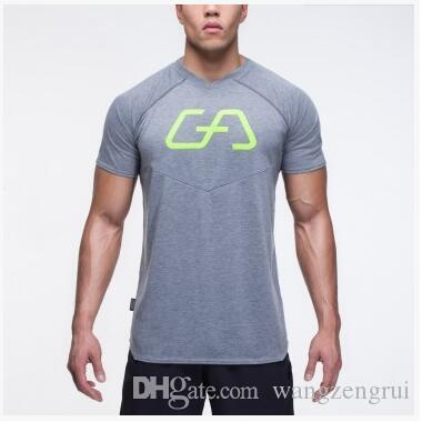 8bff3d395e6 Muscle Casual Mens Running Gym T Shirt Bodybuilding And Fitness Men Cotton  Tops T-Shirt Short Sleeve Tshirt Sport Running Gym T Shirt T-Shirt Short  Sleeve ...