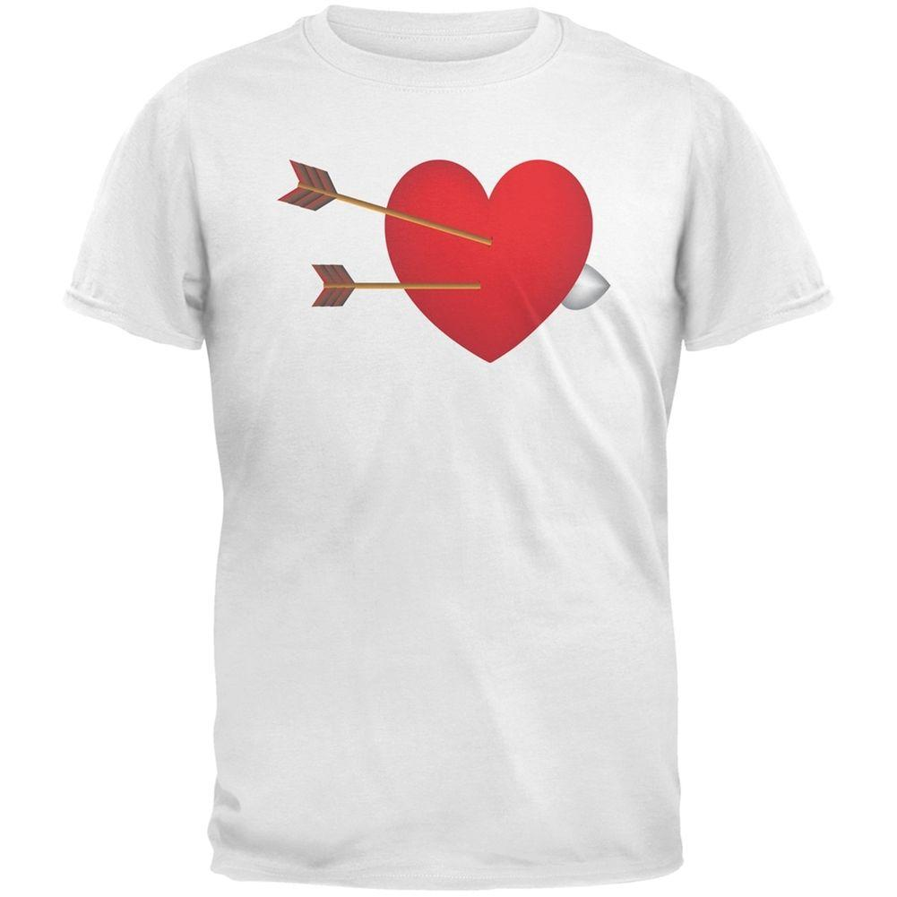 Couples Cupid Heart White Adult T-Shirt mens pride dark t-shirt white black grey red trousers tshirt suit hat pink t-shirt