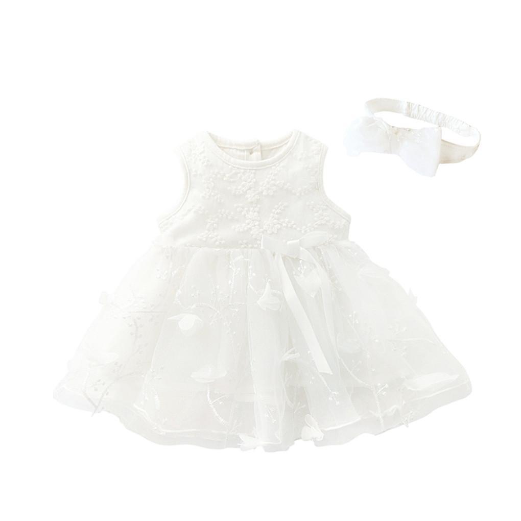 50e5503623649 Acheter MUQGEW Bébé Filles Tutu Dress Pour Fille Enfants Bowknot Sans  Manches Fleur Princesse Robes Vêtements Toddler Enfants Robe De Fête  Formelle De ...