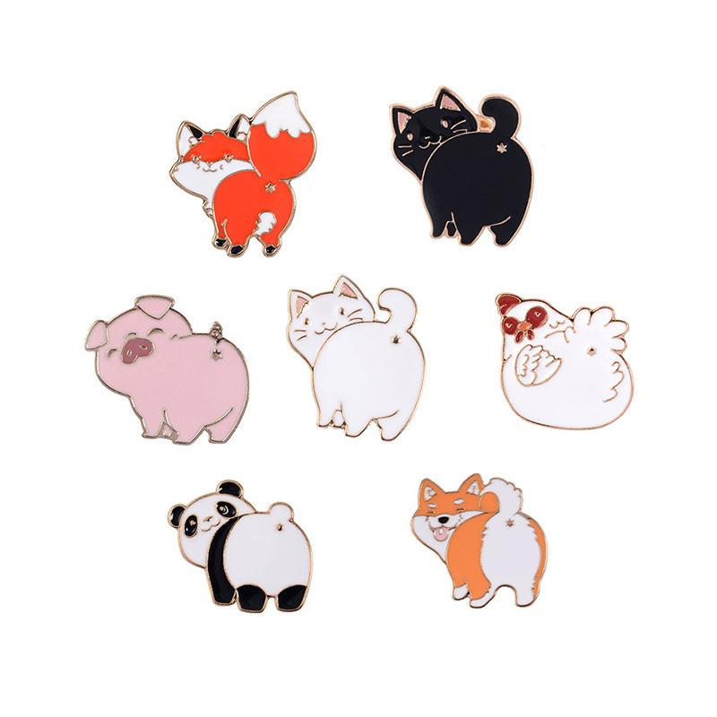 Apparel Sewing & Fabric Home & Garden Lapel Pins Metal Badges Fashion Jewelry Cartoon Animal Enamel Pin Button Corsage Cat Brooches Funny Bag Decor