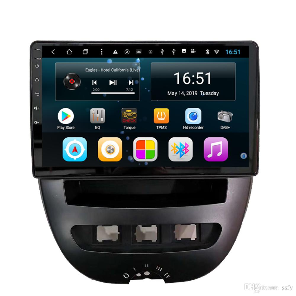 Android 9inch 8-core for peugeot 107 car radio WIFI excellent bluetooth mp3 mp4 music player high quality fast delivery Unit