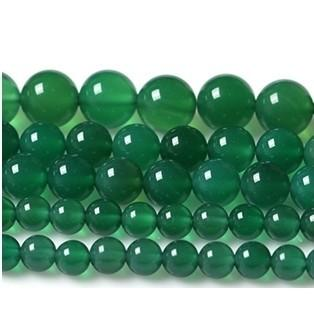 beads for jewelry wholesale Smooth Green Agates Onyx Round Beads For Jewelry 15.5inch/strand Pick Size 6 8 10 12mm Making