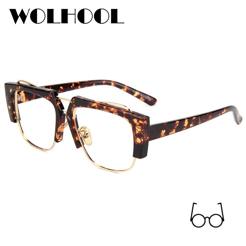 edf6ecca2e3 2019 Luxury Leopard Glasses Frame Women Fancy Brand Designer Unique  Transparent Eyeglasses Frame Female Clear Lens No Degree Oculos From  Marquesechriss