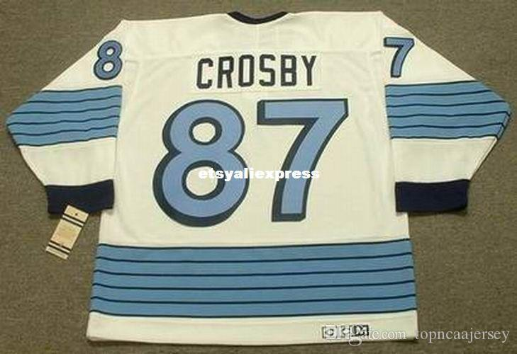 new product ae431 8d706 custom Mens SIDNEY CROSBY Pittsburgh Penguins 1967 CCM Jerseys Vintage Away  Cheap Retro Hockey Jersey