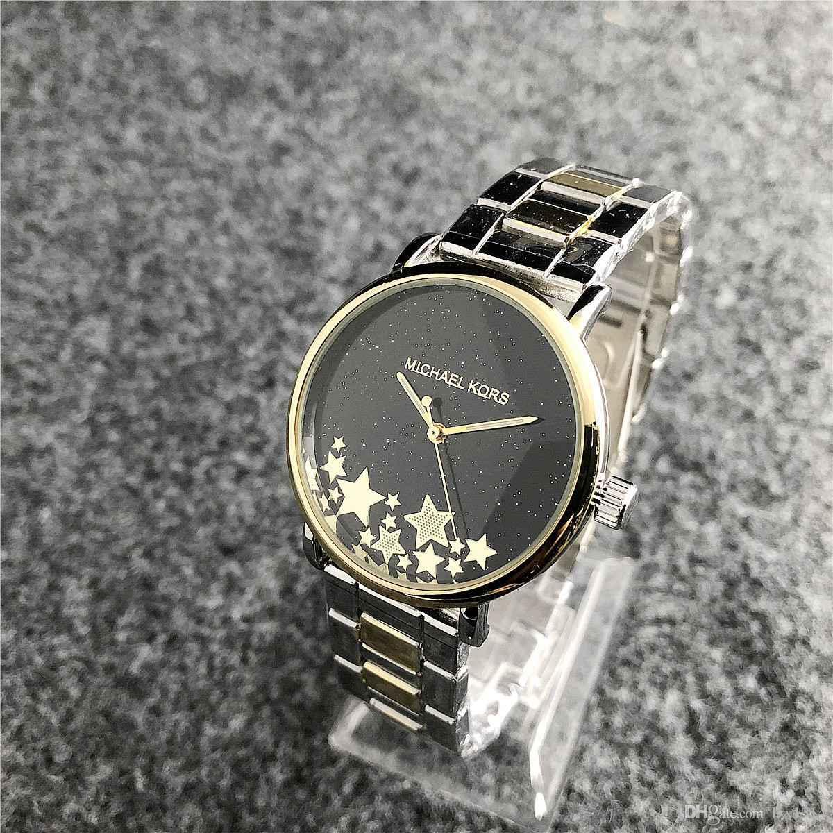 Compre 2019 Marca De Moda De Lujo Para Mujer Reloj Casual De Acero  Inoxidable Reloj De Cuarzo Personalidad Romántica Estrella Reloj De  Diamantes De ... c6211ca53c19