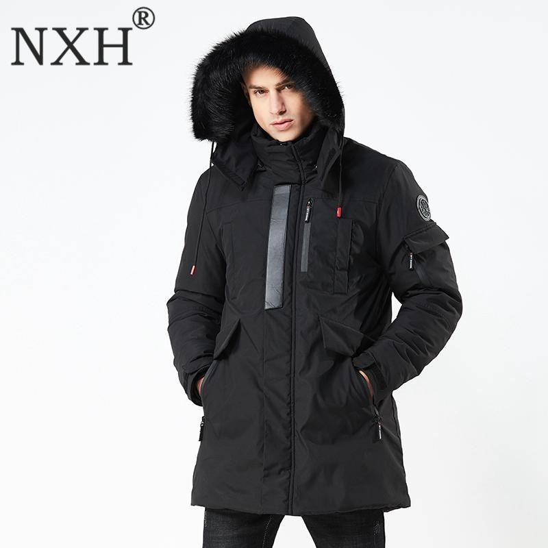 3053463a52b3 Acheter NXH 2018 Hiver Nouveau Style Costume De Manteau Pour Hommes Avec  Chapeau Et Épais Vêtements Coupe Vent Hommes Vestes Et Manteaux Veste De  Fourrure ...