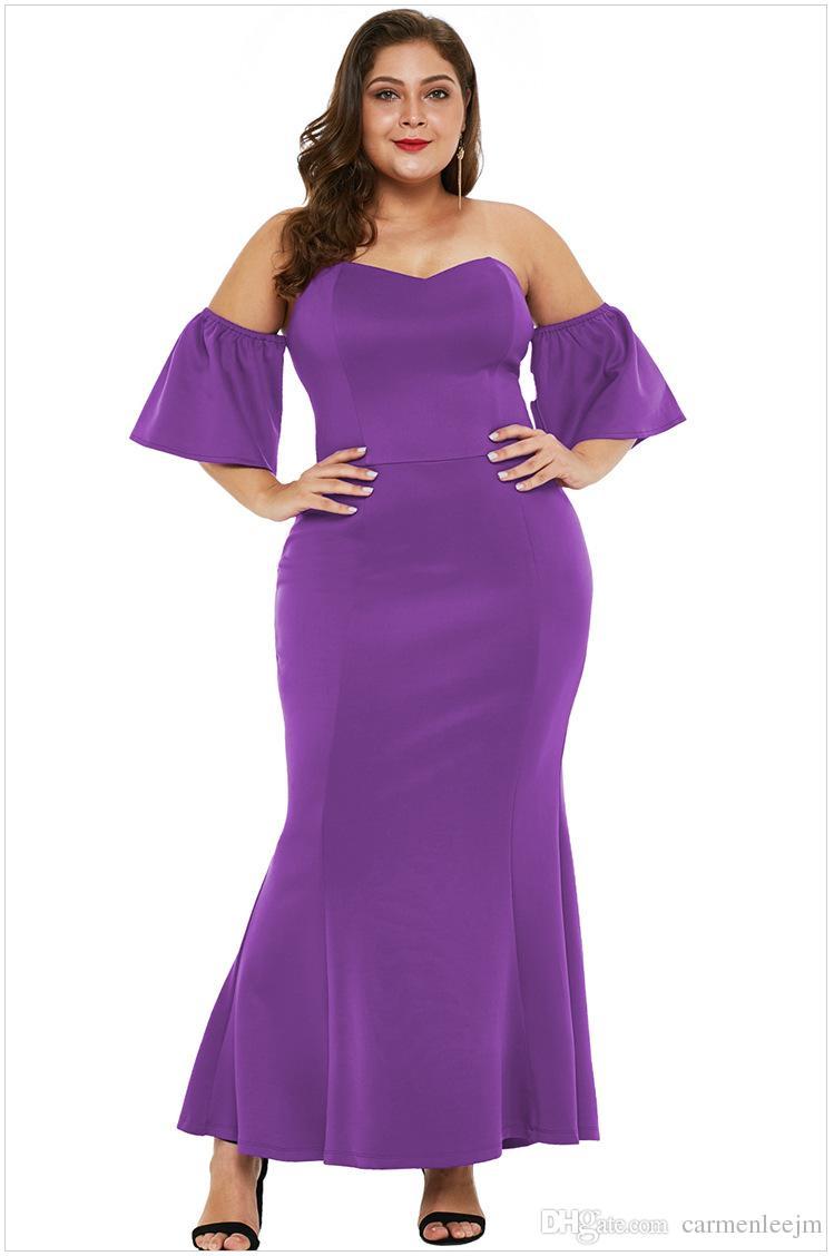a47ff1da392 2019 Long Maxi Dresses Women Plus Size 5XL Chubby Women Short Sleeve Long  Evening Party Dresses Prom Gown Formal Dresses Robe Longue Vestido Women  Dressing ...