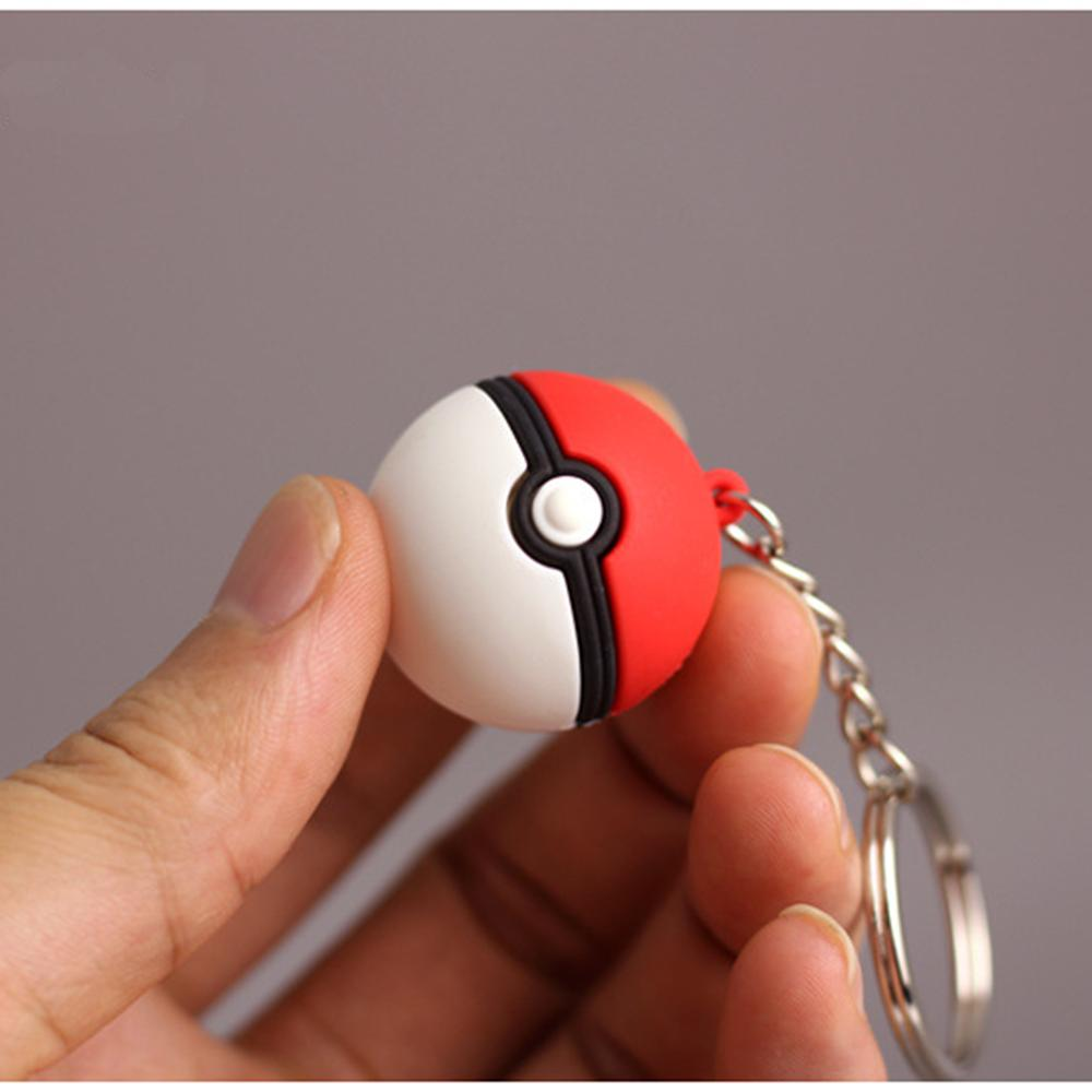 3d Anime Go Key Ring Ball Keychain Pocket Monsters Key Holder Pendant Mini Charmander Squirtle Bulbasaur Figure Toy