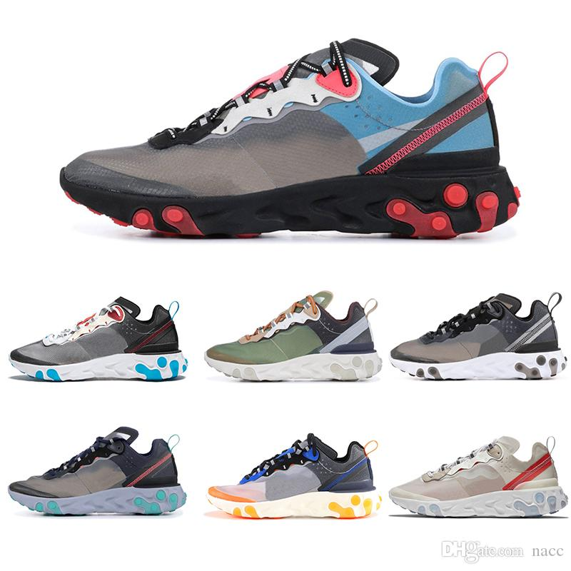 da3223f5b9fa 2019 Epic React Element 87 55 Undercover Men Running Shoes For Women  Designer Sneakers Sports Mens Trainer 55s 88s Sail Light Bone Sneakers 36  45 From Nacc