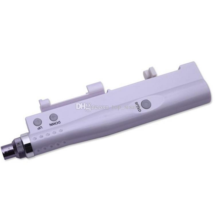 DHL Kargo Derma Pen Mikro İğne Damga Mezoterapi Mesogun Elektrik Microneedle Terapi Su Meso Enjektör Karşıtı Yüz Cilt Bakımı Yaşlanma