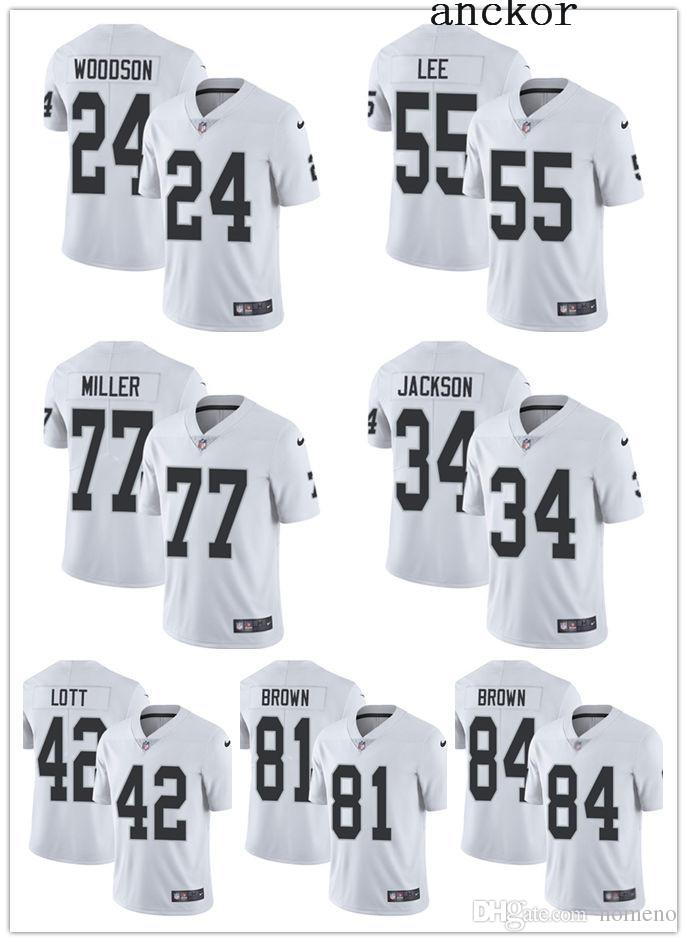 promo code 57257 7dd7a Oakland MEN WOMEN YOUTH 84 Antonio Brown 4 Derek Carr Limited Road Jersey  Football Raiders White Vapor Untouchable
