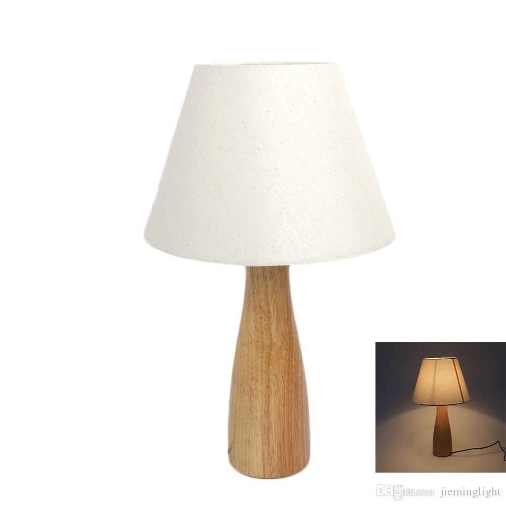 Led Desk Lamp Eye Caring Table Lamps For Bedroom Simple Wooden Base