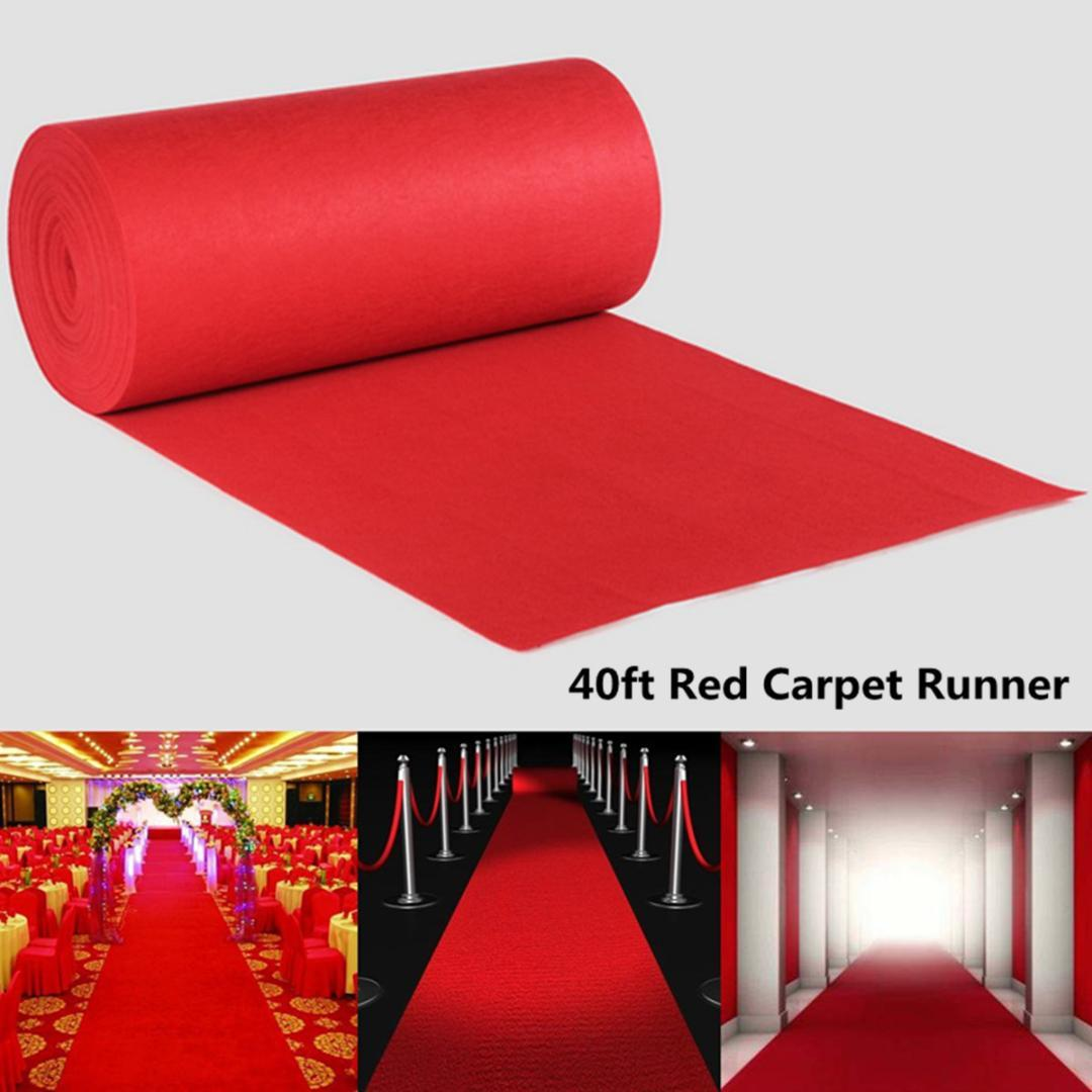 Disposable Red Carpet Runner 5/12x1m Large Red Carpet Aisle Floor Runner Wedding Birthday Hollywood Party Decoration Prop