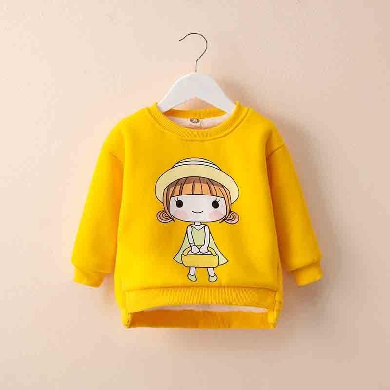 4a3c59425 Good Quality Baby Girl Winter Sweaters 2019 New Girl Cute Cartoon Long  Sleeve Outerwear Child Thick Warm Velvet Pullovers Clothing Sweater For Kids  Design ...