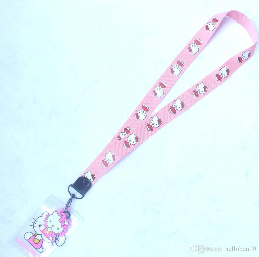 Nuovo stile Hello Kitty Lanyard with Reel e ID Card Holder: Red Ribbon Kitty