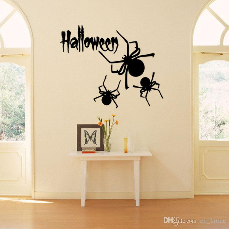 Explosion models creative Halloween series spider window glass background landscaping decorative waterproof stickers