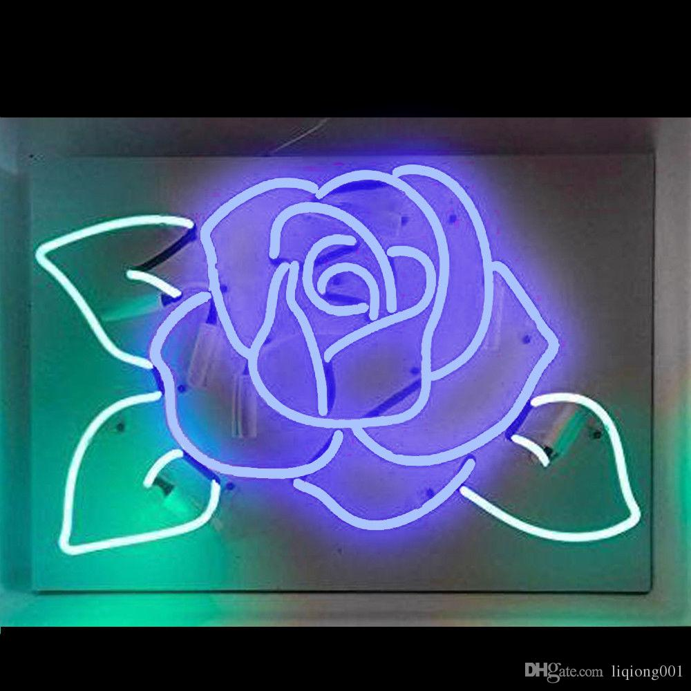 3733b28bdd 2019 New Star Neon Sign Factory 17X14 Inches Real Glass Neon Sign Light For  Beer Bar Pub Garage Room Blue Rose TN763 . From Liqiong001