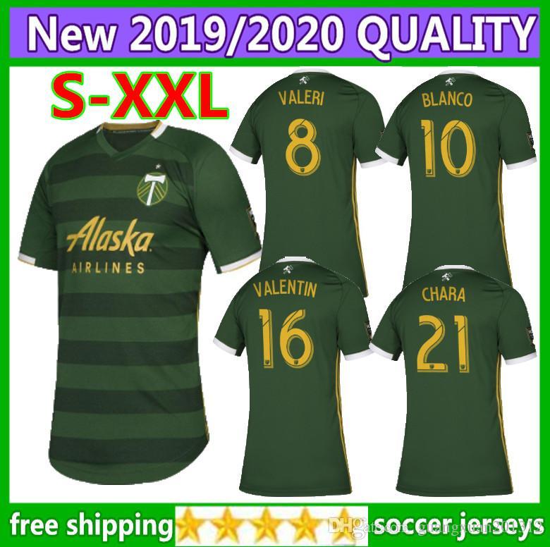 separation shoes 522ab a0aad Size: S-XXL 2019 MLS Men s Portland Timbers home soccer jerseys 2019 2020  MLS BLANCO CHARA VALENTIN VALERI MEN Football Shirts