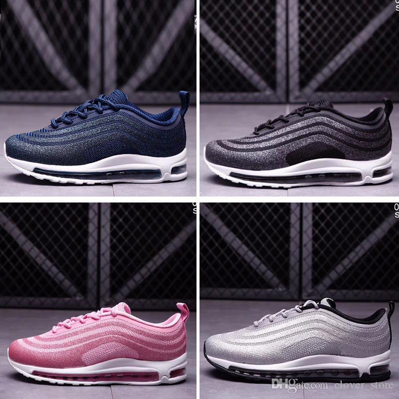 cheap for discount baca3 e63a5 Acheter Nike Air Max 97 Enfants Triple Noir Blanc Air Ultra Rétro OG 3M  Chaussures Enfants GRAND GARCON Vert Serpent Peau 97 Baskets Baskets Taille  US36 45 ...