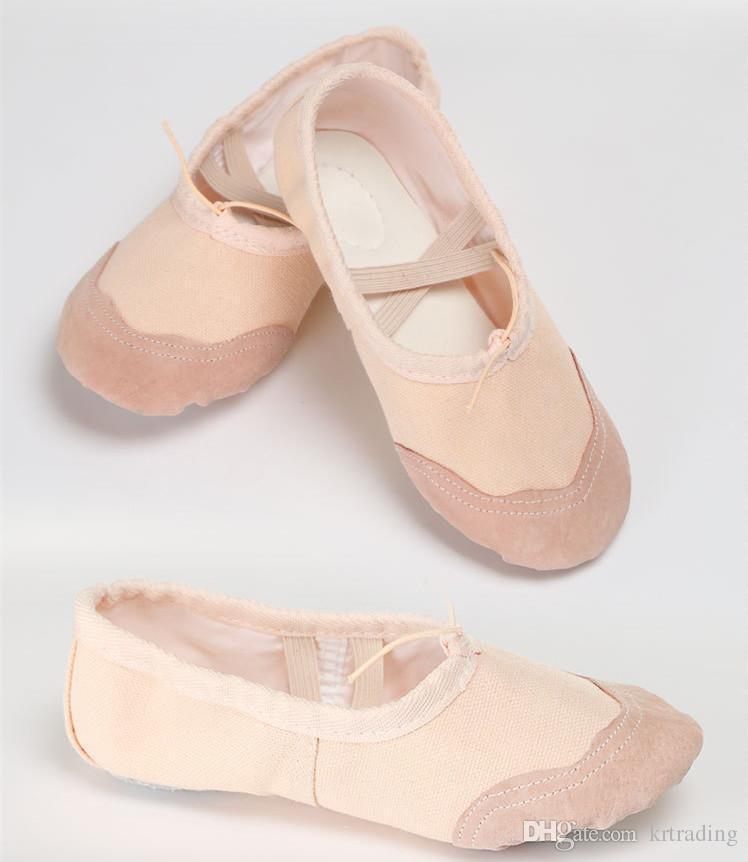eaed2064fb Compre Melhores Crianças Soft Sole Ballet Bombas Toe Menina Calçados  Casuais Meninos Girsl Prática Sapatos De Ballet Sapatos De Dança Para O  Bebê Crianças ...